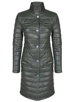 Пальто темно-зеленое | 4859471