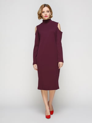 Сукня кольору марсала | 3507149