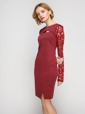 Платье цвета марсала | 3068023