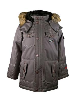 Куртка сіра | 4856421