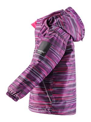 Куртка фіолетова в смужку | 4856423