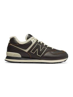 Кроссовки темно-коричневые New Balance 574 | 4579070