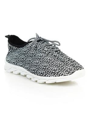 Кроссовки черно-белые | 4859459