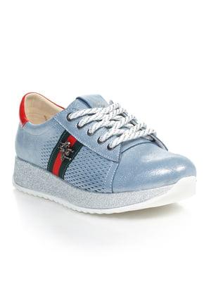 Кроссовки голубые | 4843082