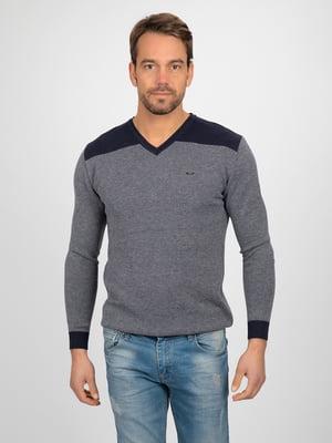 Пуловер синьо-сірий | 4622378