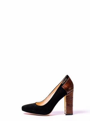 Туфлі чорно-коричневі | 4860277