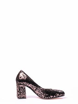 Туфли черные с рисунком | 4860298