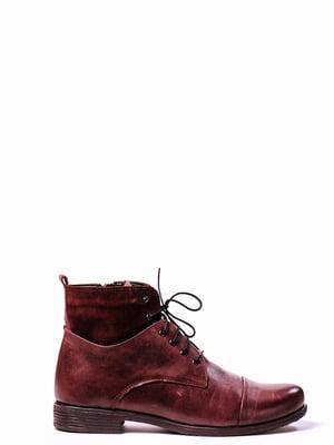 Ботинки вишневого цвета | 4860328