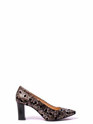 Туфли бронзового цвета с рисунком | 4860332