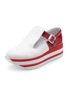 Туфли бело-красные | 4860906