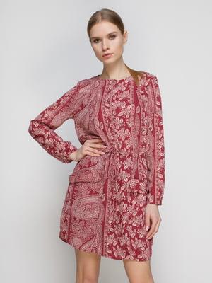 Платье красное с принтом | 4791418