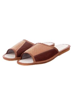 Тапочки коричневые | 4863019