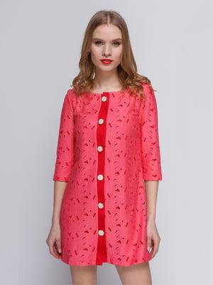 Платье-кардиган коралловое | 2183468