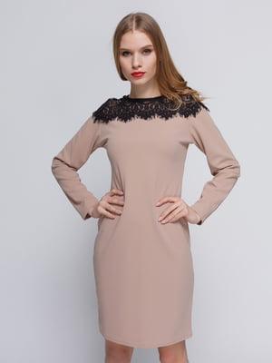 Платье бежевое | 3182304