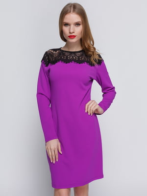 Платье сиреневое | 3182303