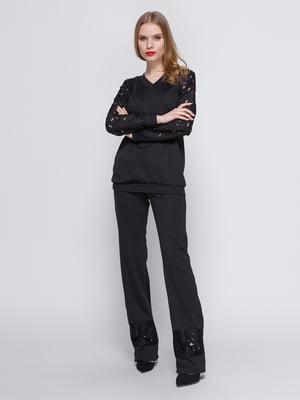 Костюм черный: блуза и брюки | 3544649