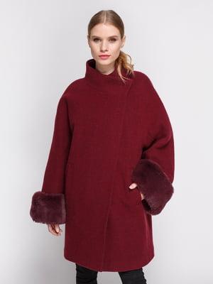 Пальто бордовое | 3667670