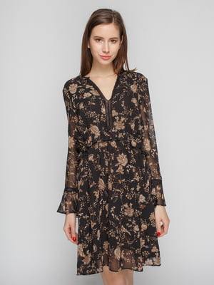 Платье черное в принт | 4789403