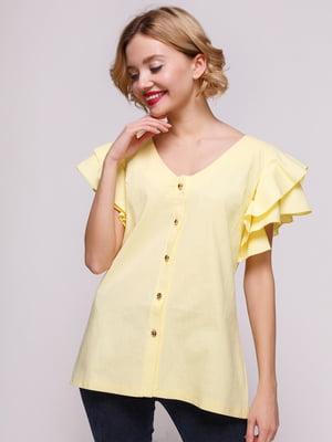 Блуза из льна желтая | 3315355