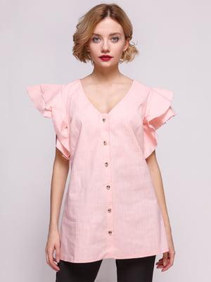 Блуза из льна персикового цвета | 3315353
