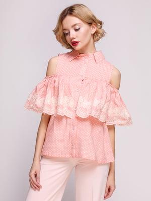 Блуза коралловая | 3352777