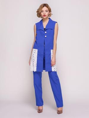Костюм: жилет і штани кольору електрик | 3544653