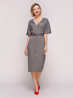 Сукня світло-сіра в смужку | 4861390