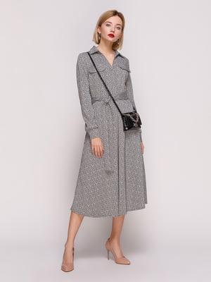 Платье в рисунок-елочка   4861395