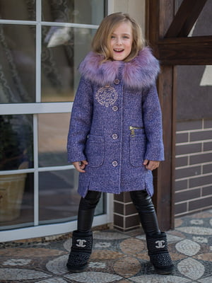 Пальто цвета лаванды | 4865811