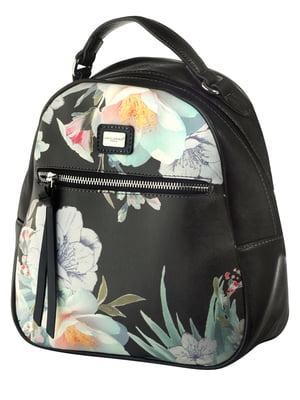 Рюкзак черный в принт | 4630779