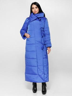 Пальто кольору електрик   4828105
