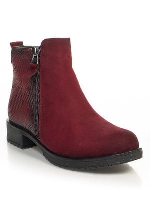 Ботинки бордовые   4691330