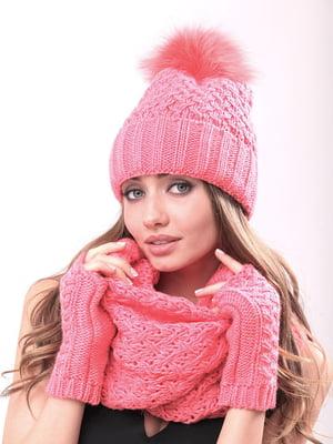Комплект: шапка, шарф-хомут і мітенки | 4866858