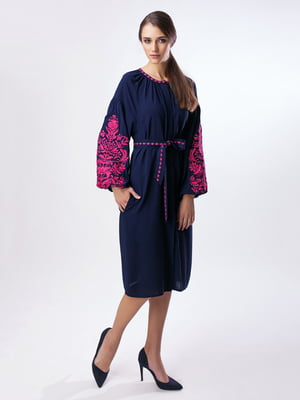 Сукня синя з вишивкою | 3714584