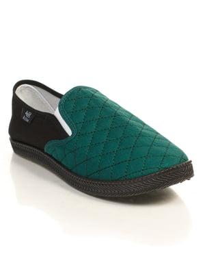 Слипоны черно-зеленые | 4866156