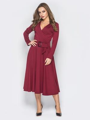 Платье бордовое | 4868181