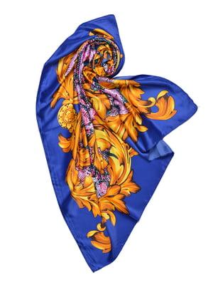 Платок синий с принтом | 4868261
