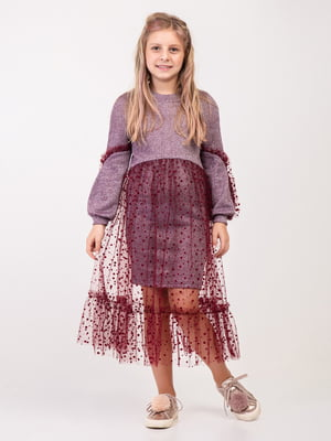 Сукня кольору марсала | 4866617