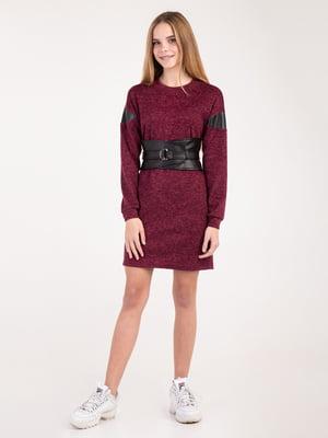 Сукня кольору марсала   4866664