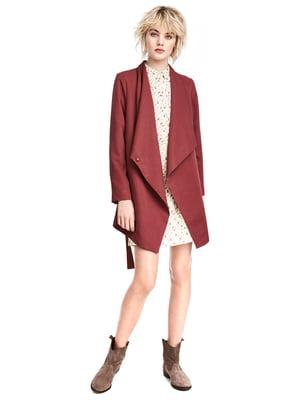 Пальто бордовое | 4554490