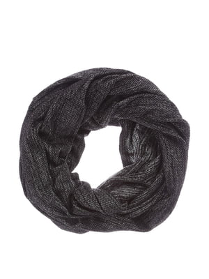 Шарф-хомут черный меланжевый | 4793654