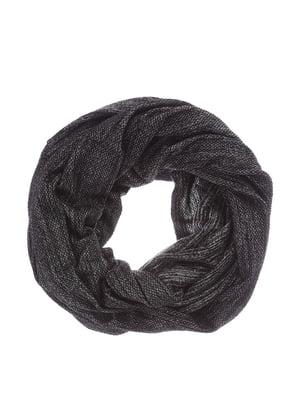 Шарф-хомут чорний меланжевий | 4793654