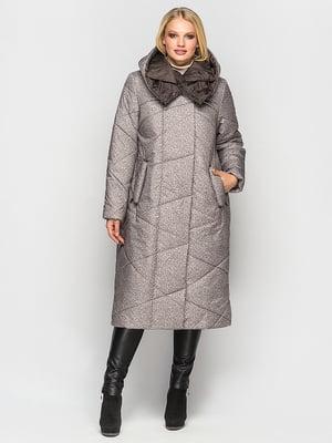 Пальто бежевое в принт | 4872282