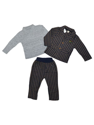 Костюм: штани, піджак та джемпер-поло | 4872710