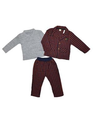 Костюм: штани, піджак та джемпер-поло | 4872711