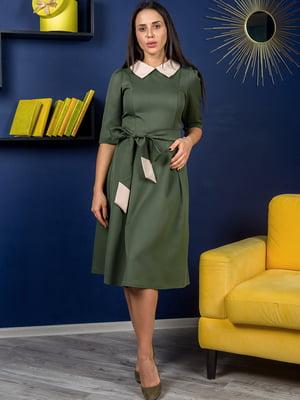 Платье цвета хаки | 4874851