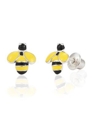 Серьги-пусеты «Пчела» | 4875671