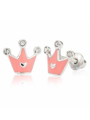 Серьги «Корона с сердцем»   4875681