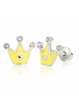 Серьги «Корона с сердцем» | 4875683