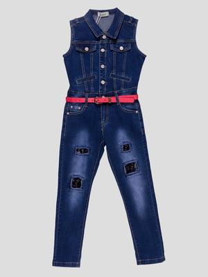 Комбинезон синий джинсовый | 4872926